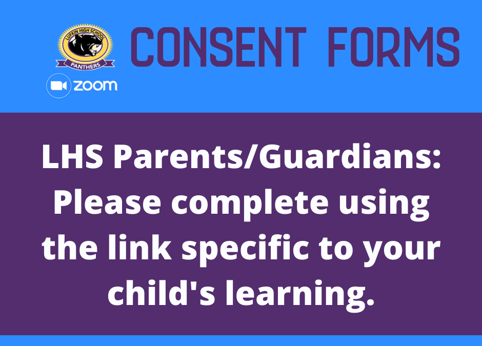 Zoom Consent Forms