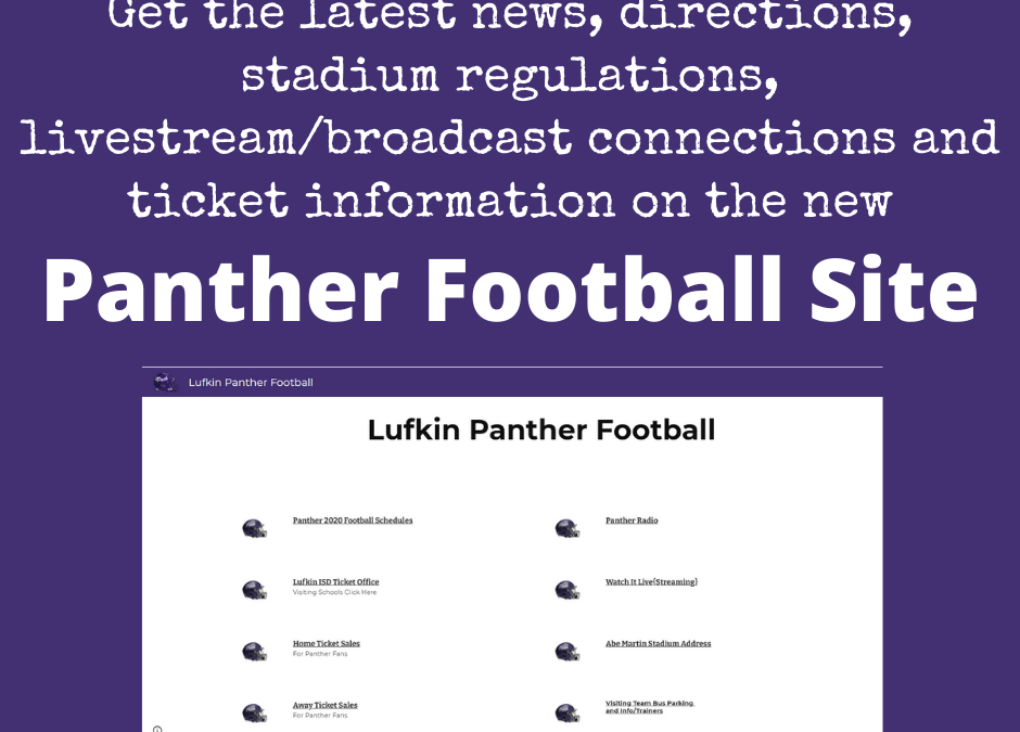 New Panther Football Site