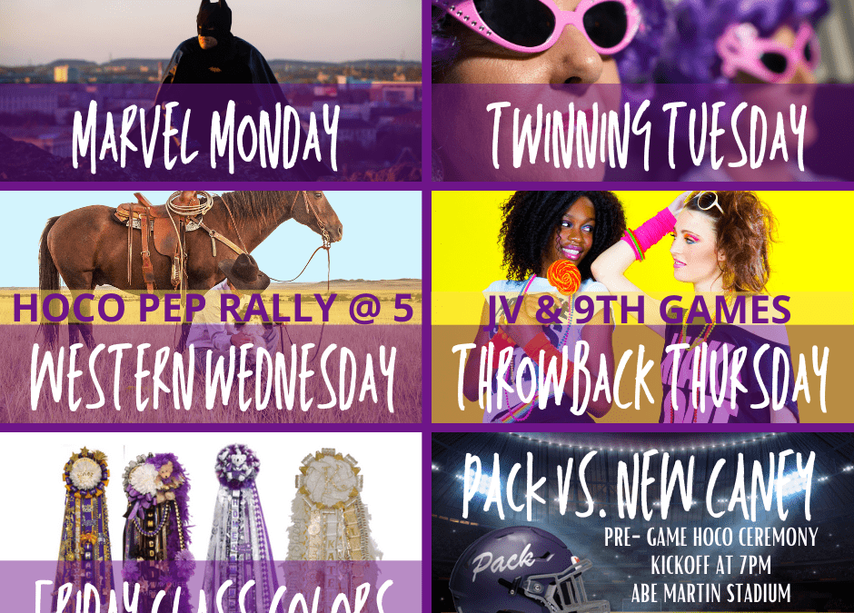 HOCO and Red Ribbon Week:  October 26-30th