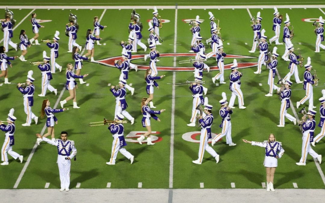 Lufkin Panther Marching Band Received First Division Superior Ratings