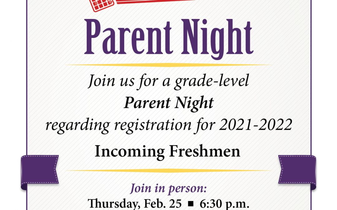Update: Parent Night Meetings for Each Grade Level