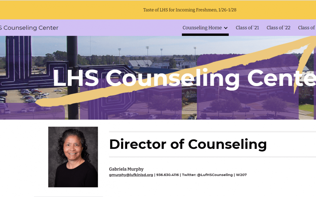New LHS Counseling Center Website