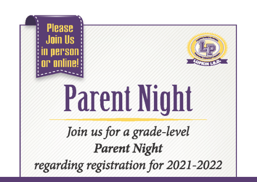 Grade Level Parent Nights Regarding Registration