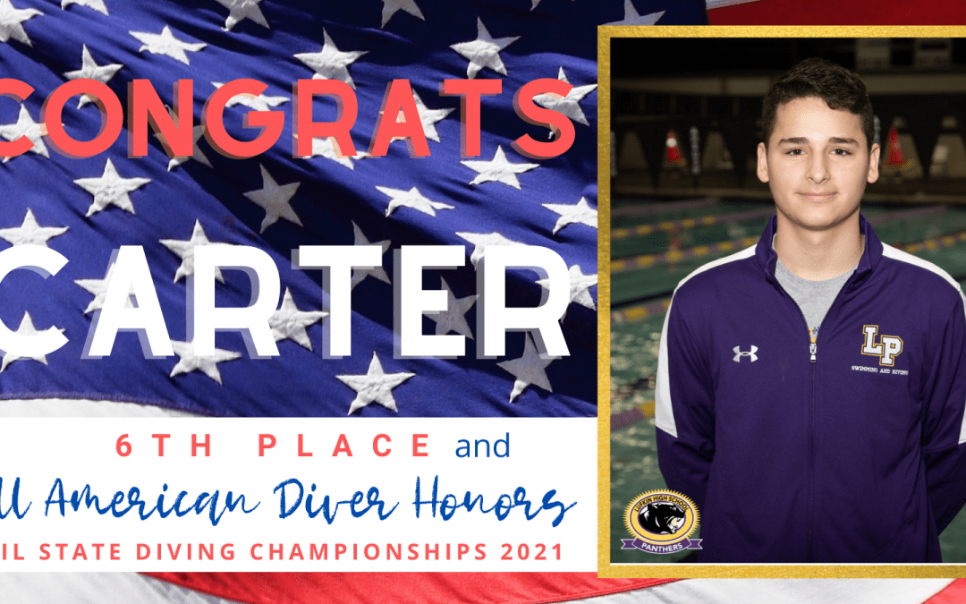 UIL State Diving Championships:  Congrats to Carter Wood