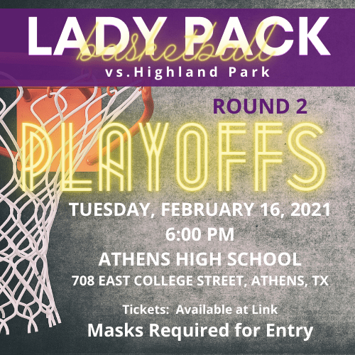 Lady Pack Basketball:  Round 2 Game Info