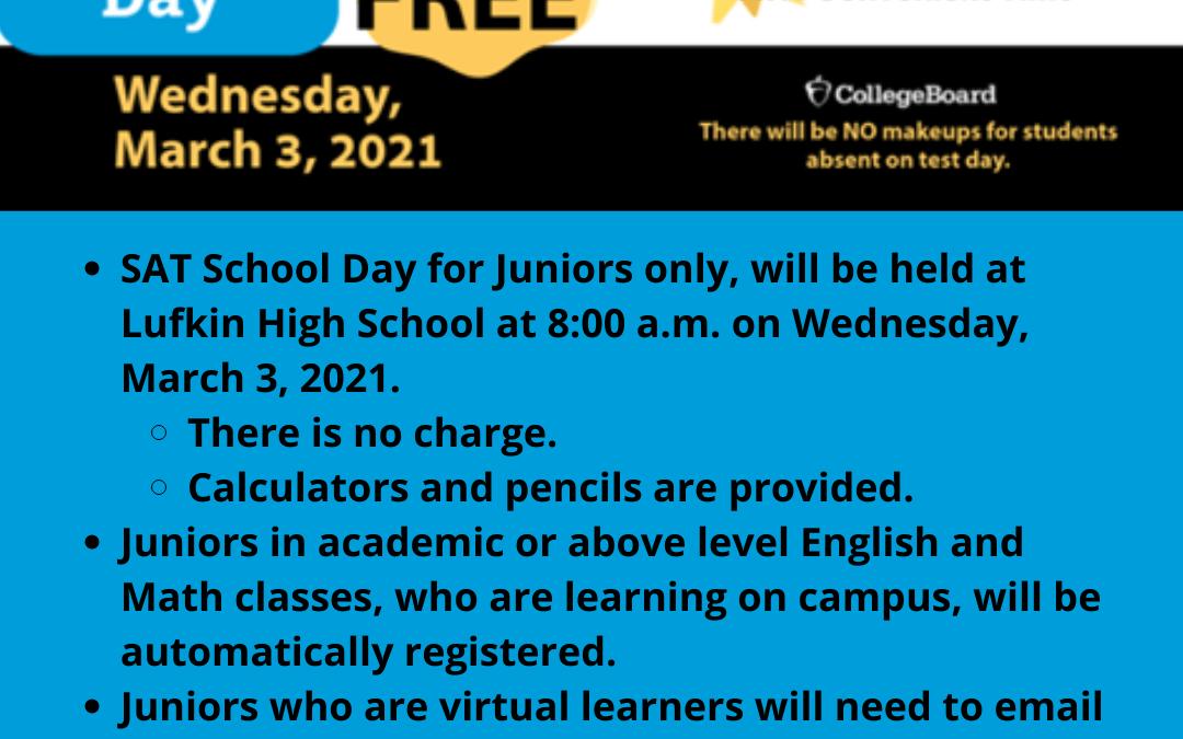 SAT School Day for Juniors