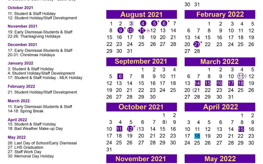 2021-22 LISD Calendar Released