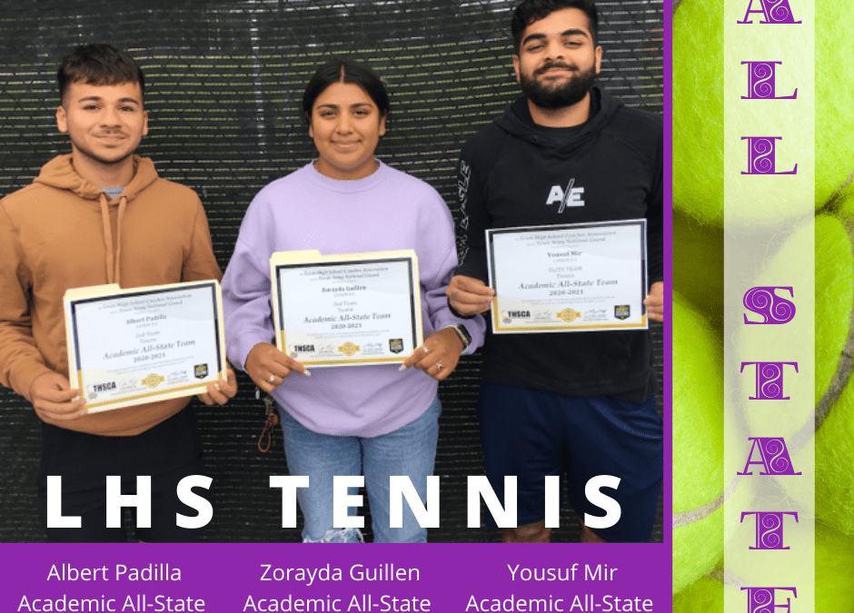 Tennis All State Recognitions