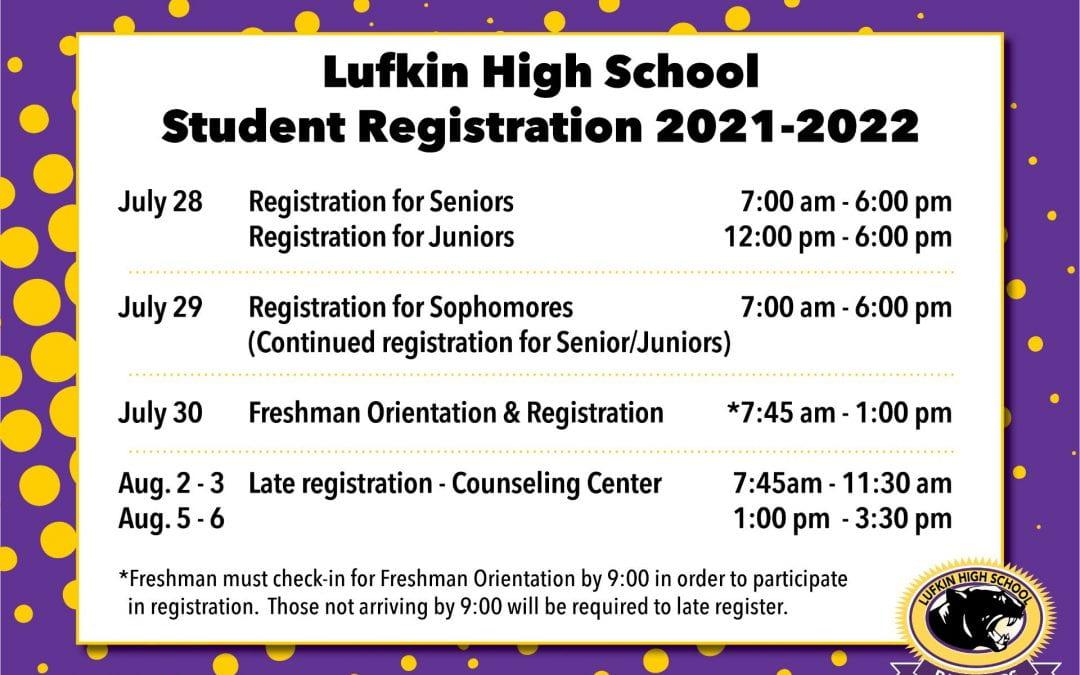LHS Registration Info for 2021-22