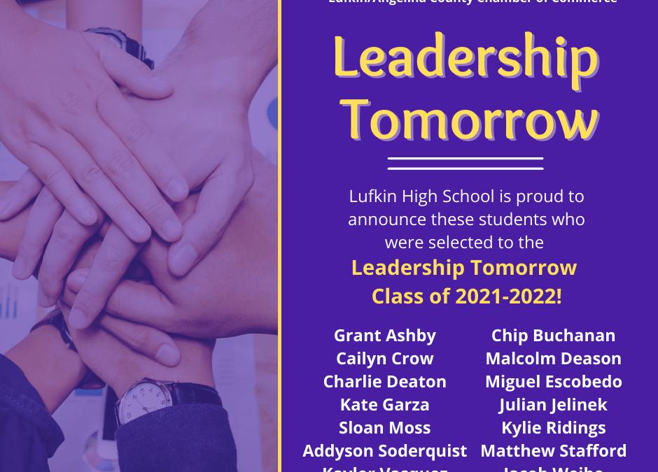 Leadership Tomorrow Class of 2021-22