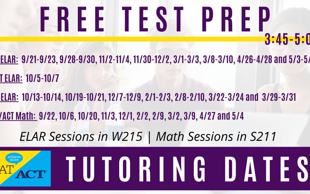 Free SAT/ACT Test Prep at LHS