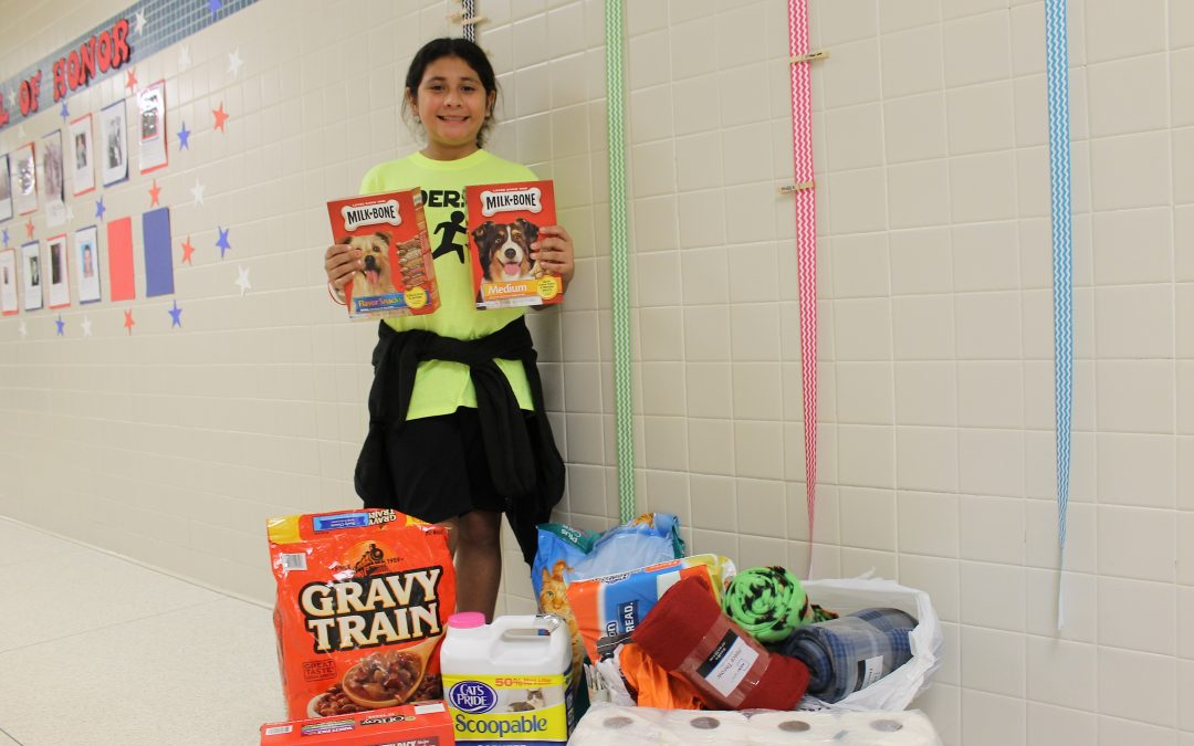 5th grader spearheads campaign for furry friends at Winnie Berry Humane Society