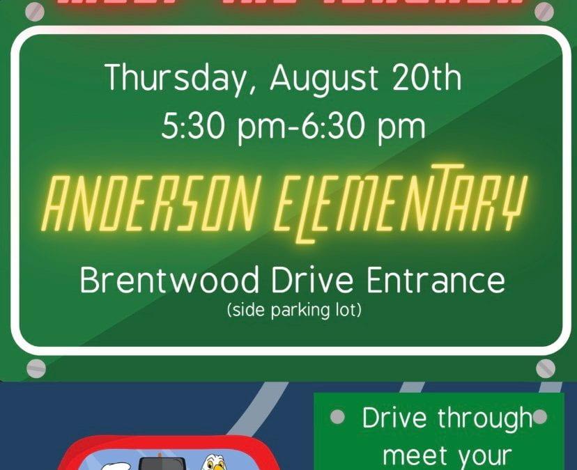Anderson Drive Through Meet the Teacher