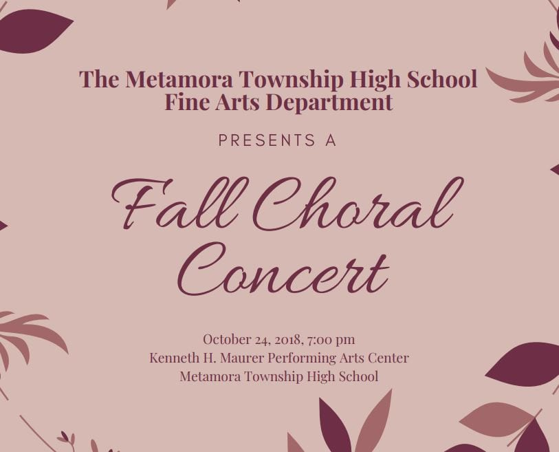 2018 Fall Chorale Concert