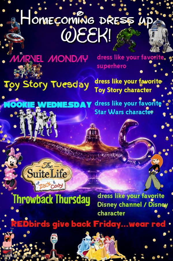 2019-2020 dress up days