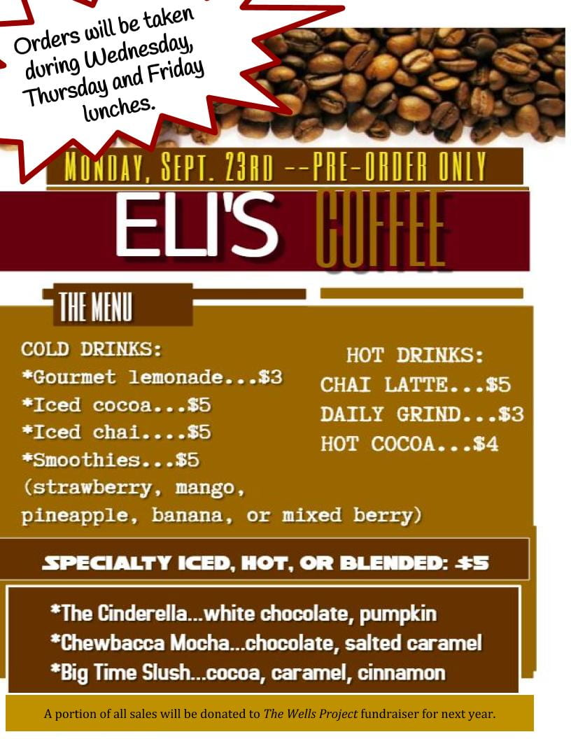 Eli's Coffee New 9.18