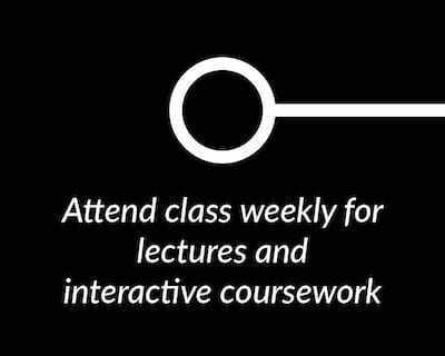 Attend class weekly for lectures and interactive coursework.