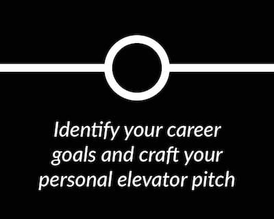 Identify your career goals and craft your elevator pitch.
