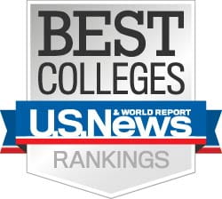 Logo for U.S. News and World Report 2021 Best Colleges Rankings