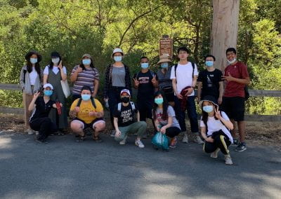 Student group photo after a hike