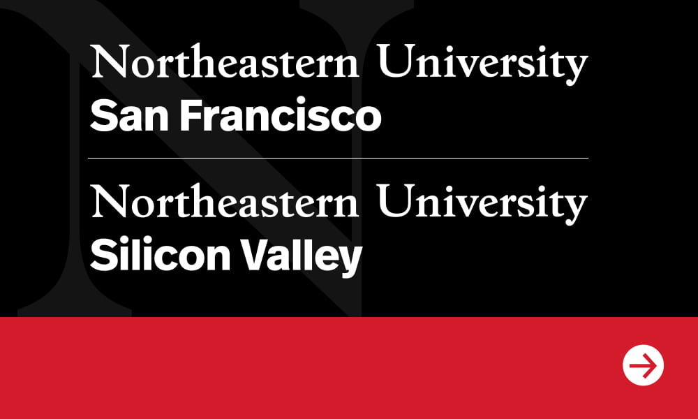 Three students in conversation at Silicon Valley Campus.