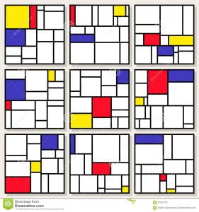 set-nine-vector-square-compositions-piet-mondrian-de-stijl-style-painting-design-61337707