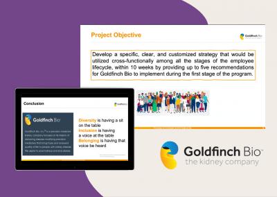 Goldfinch Bio – D.E.I Strategy