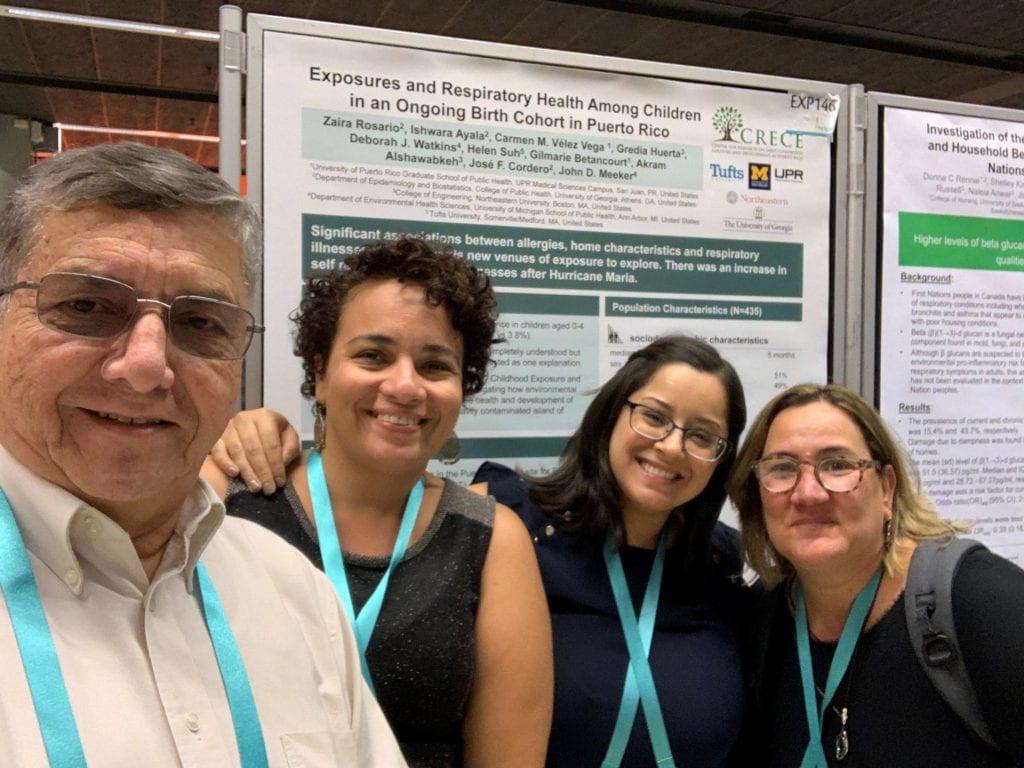 Dr. Jose Cordero, Zaira Rosario, Ishwara Ayala, and Dr. Carmen Velez-Vega at ISEE 2019
