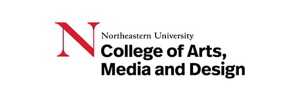 Logo for Northeastern University's College of Arts, Media and Design