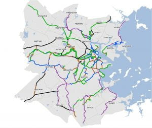 Potential greenway network