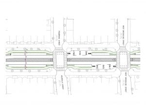 Tremont Plan, wide median