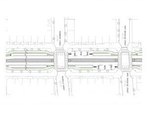 Tremont Plan, wide median