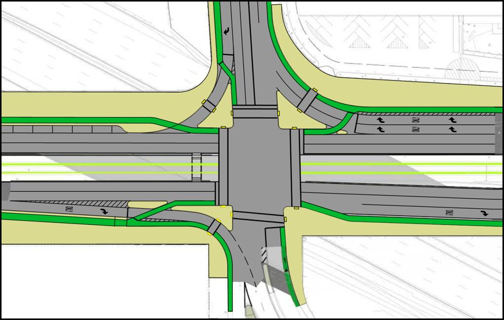Comm. Ave. @ BU Bridge: A Compact Intersection Based on a Copenhagen Design