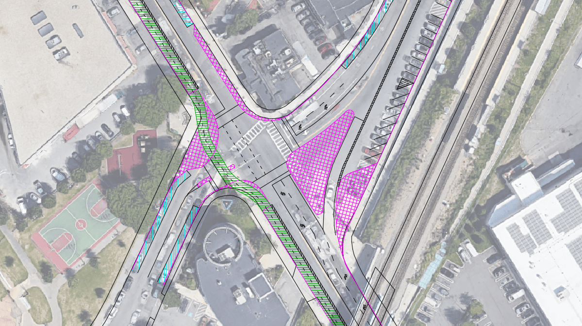 Mass Ave (Boston) @ Newmarket Square: Intersection Design for a Road Diet