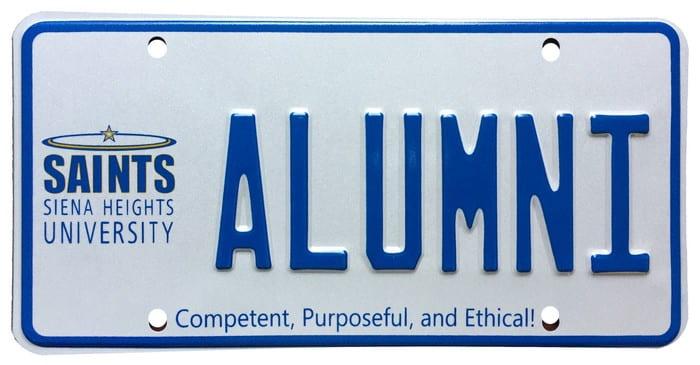 SHU alumni license plate