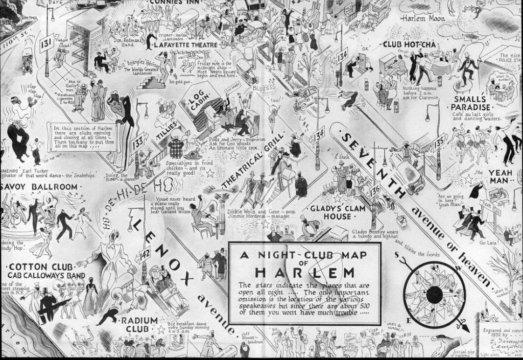 Night-Club of Harlem by E. Simms Campbell, 1932 from The Power of Pride: Stylemakers and Rulebreakers of the Harlem Renaissance. Carole Marks and Diana Edkins. 1999.