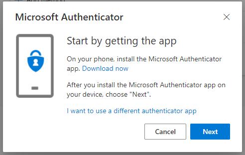 Microsoft Authenicator popup