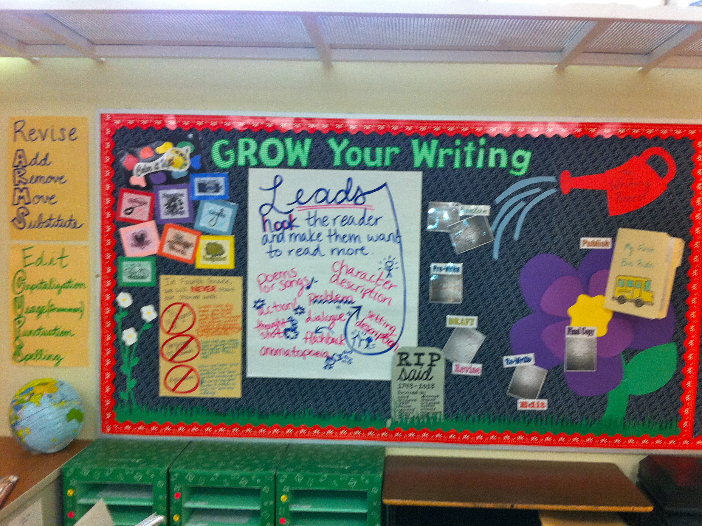 writing process bulletin board This writing process bulletin board is packed with easy, editable ways to change up your writing display it includes a writing process pencil clip chart, editable goal tags to tailor to.