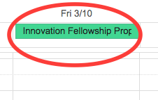 Innovation Fellowship Proposals Due March 10