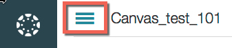 Canvas logo with 3 lines to the right