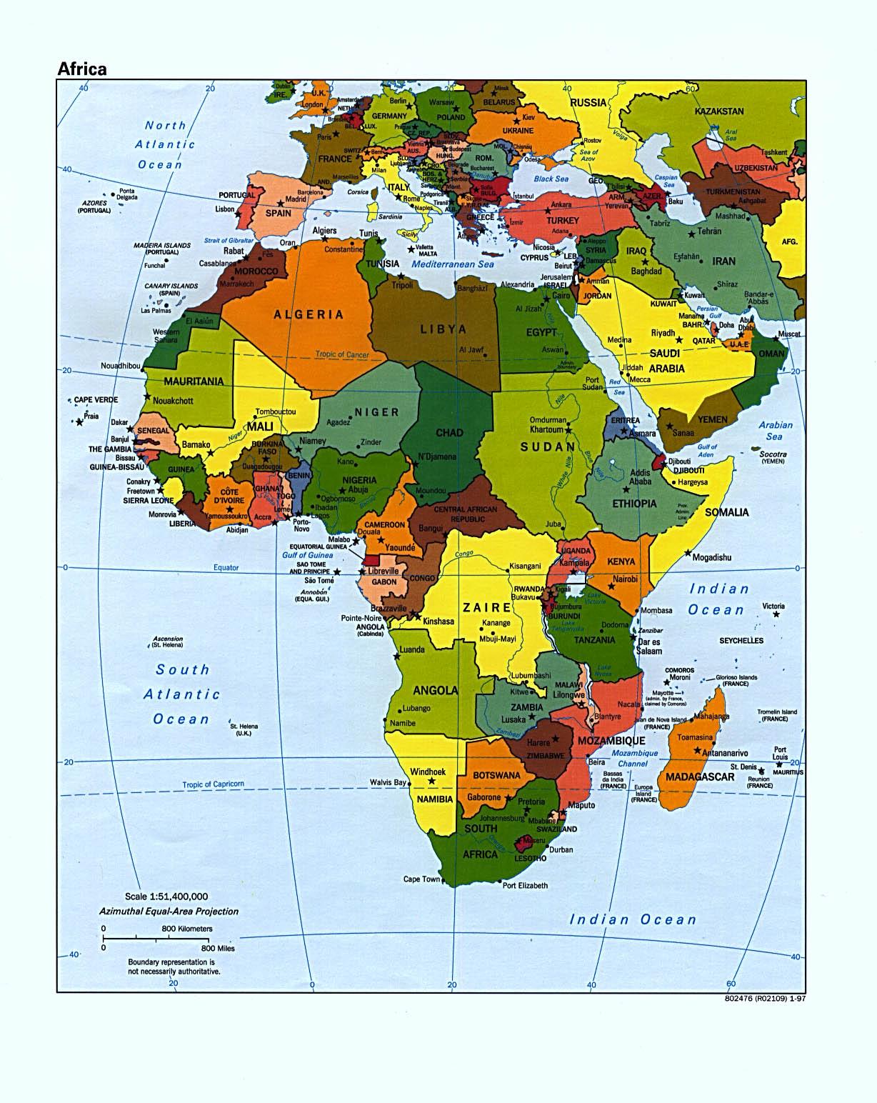 Modern Map Of Africa 2013 Africa Maps | Africa
