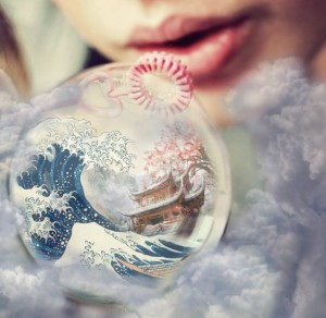 """The world is a Bubble"" Photo Manipulation"