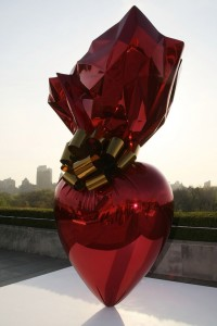 Sacred Heart (Red/Gold) at the roof garden of The Metropolitan Museum of Art in New York City in 2008