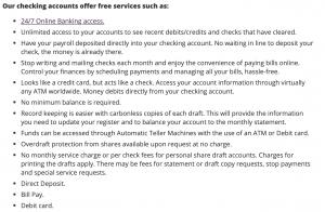 credit union website content