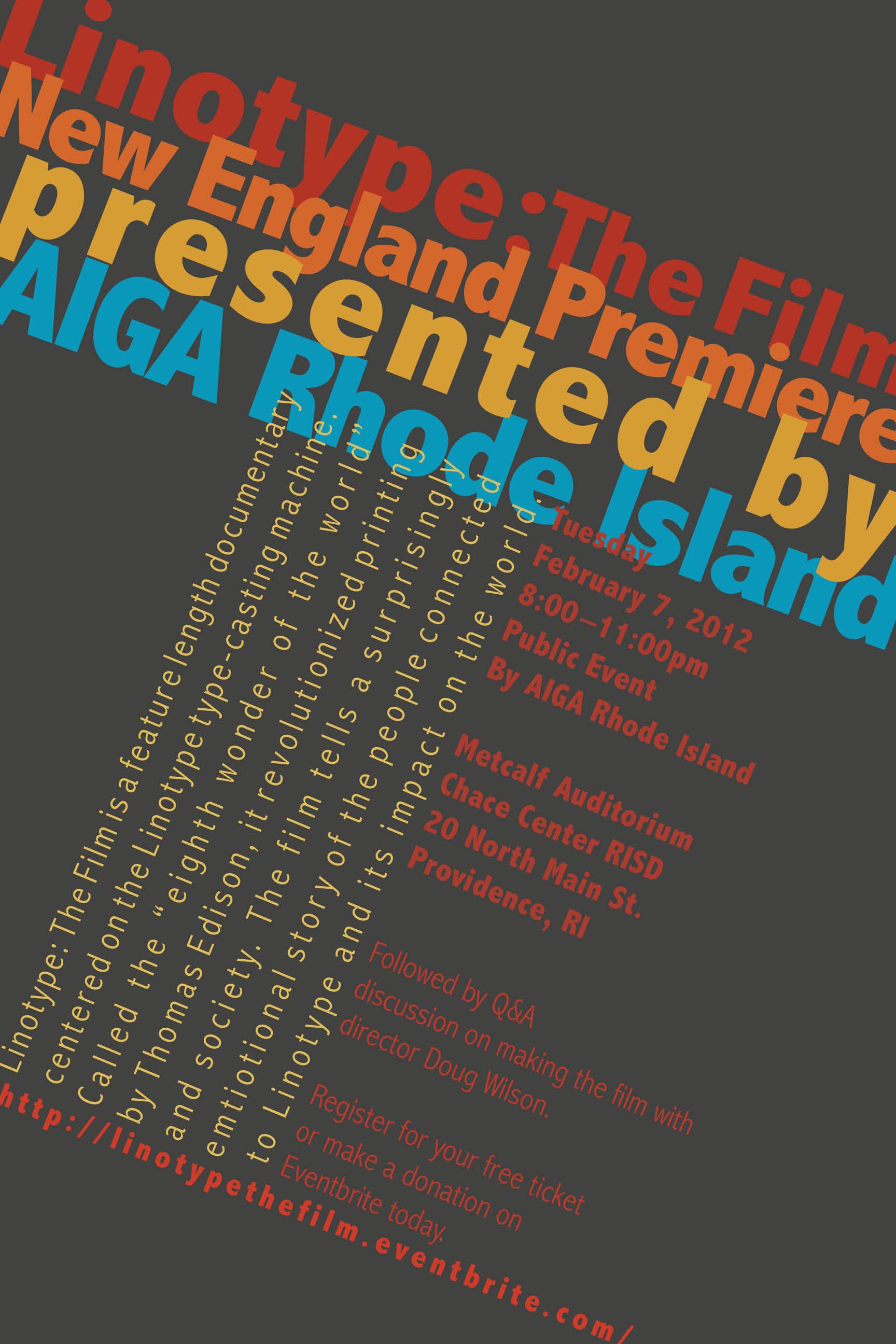 Typography I: Linotype: The Film | GDES Portfolio