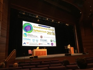 The stage at the Edinburgh International Conference Center, home of the 2016 Quadrennial Ozone Symposium