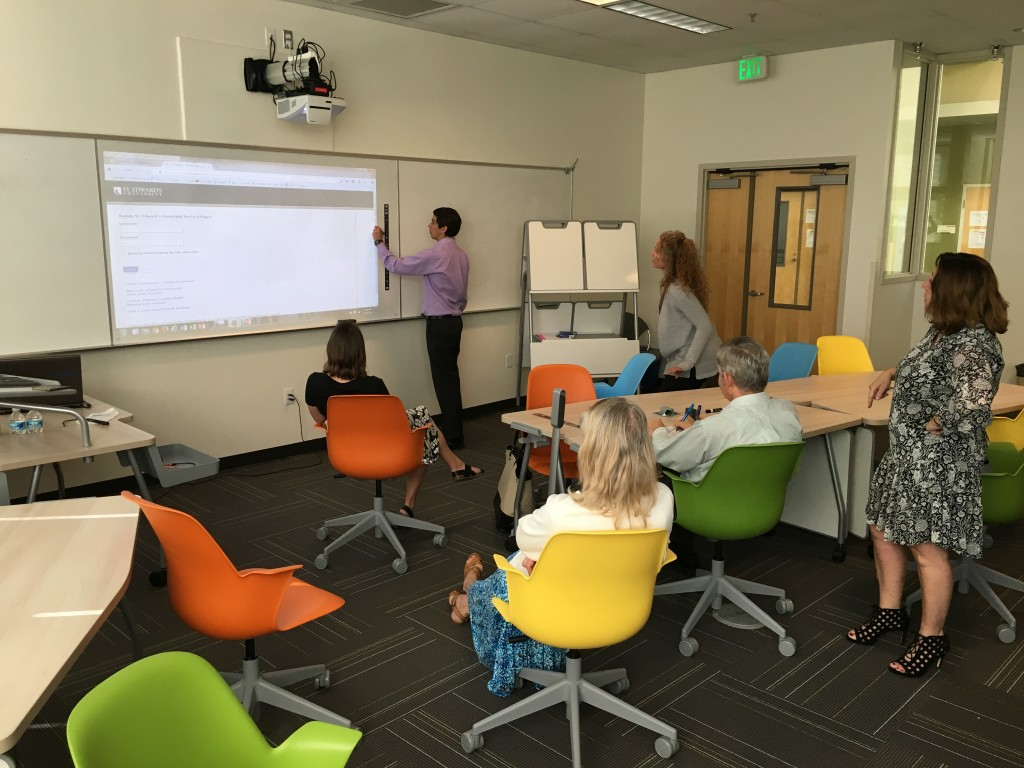 Learning to use the Steelcase Eno (smart board) in the Steelcase Active Learning Center (JBWN 206)