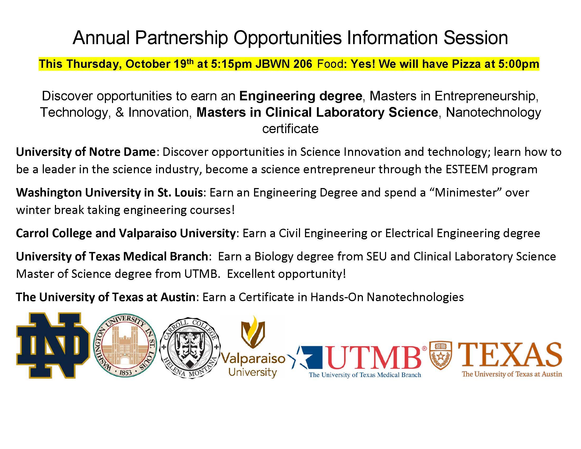 NSCI Partnerships Information Session: JBWN 206 @ 5:15 | NSCI News