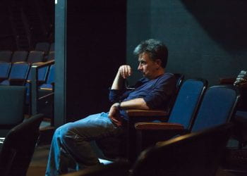 Ken Webster watching actors audition for the play Death Tax 2019