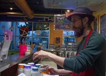 Jeff Serving a Coffee Lobster